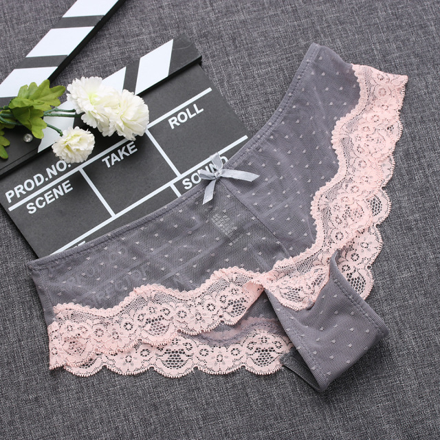 1PC Comfortable Breathable Panties Low-Rise Hollow Knickers Soft Briefs Ultra Thin Underwear Lace Panties Lady Summer Sleepwear