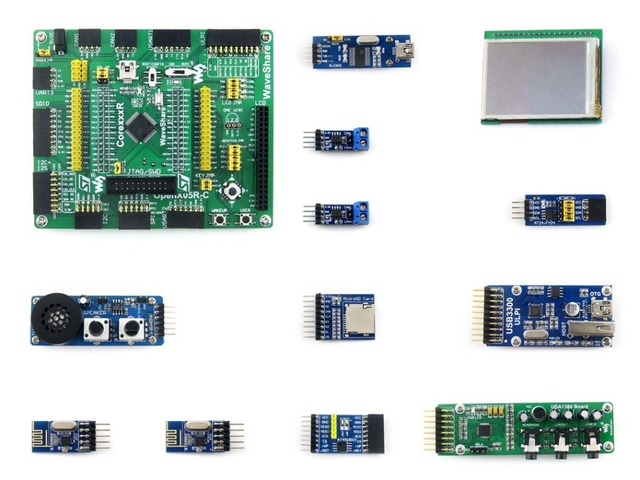Open205R-C Pack B=STM32 Development Board,STM32F205R  ARM Cortex-M3 STM32F205RBT6 MCU+2.2inch 320*240 Touch LCD+10 Module Kit