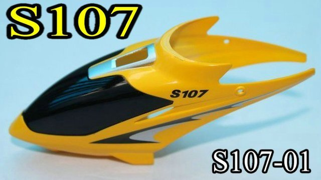 Syma S107 mini RC helicopter spare parts: Head cover nose (yellow) S107-01