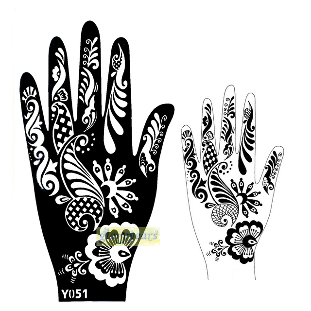 1pc Hot Large Indian Henna Black Personalizer Tattoo Paste Mehndi Flowers Women Hands Body Art Paiting Temporary Tattoo Kit Y051