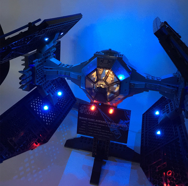 LED Light Kit (only light included) for  7181  and 05044  The TIE Interceptor  ( not include the bricks set)