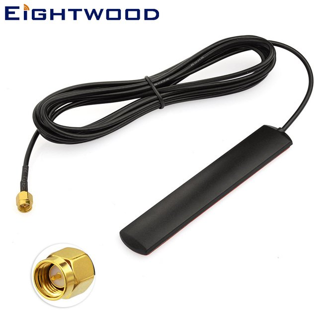 Eightwood 700~2700MHz 4G LTE GSM Antenna Omni Aerial With SMA Plug Male Connector for Car Vehicle Cell Phone Signal Booster