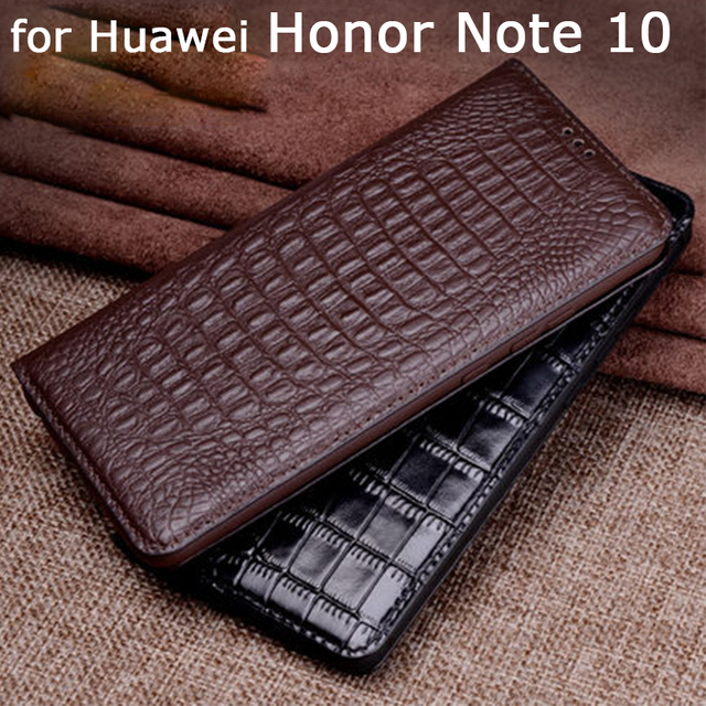 Exclusive Sale Handmade Phone Cases for Huawei Honor Note 10 Case Genuine Leather Cover Business Flip Stand Skin Honor Note10