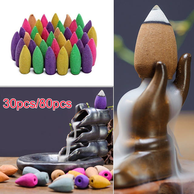 Sandalwood Incense Cones Shape Home Delicate Backflow Incense Lavender Fragrance Tower Incense Drop Shipping