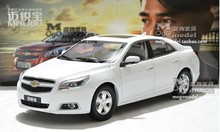 Model car 1:18 Chevrolet MALIBU White alloy car model - New year gift