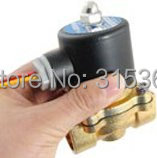 "Free Shipping 5PCS 2W-200-20 Direct Acting 3/4"" DC 24V Water Oil Solenoid Valve Copper"