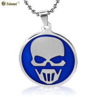 Bahamut Ghost Recon Pendant Neclace Dog Tag Titanium Steel Chain