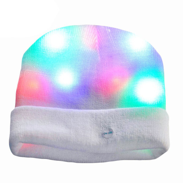 Glowing hat Toys Glowing LED Funny Luminous toys Light Wool LED Wool Hat Kids toys light lichtstaven Festival Decoration