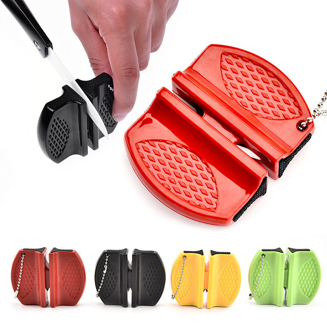 Mini Portable ABS shell Ceramic Rod Tungsten Steel exquisite Sharpener Camp Pocket Home Kitchen Knife Sharpener Tool