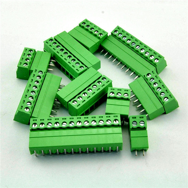 100 sets/lot KF2EDG 2EDG 5.08mm 0.2'' 300V 15A Pitch PCB Plug-in Terminal Block connector, 2P 3P Brass Male + Female
