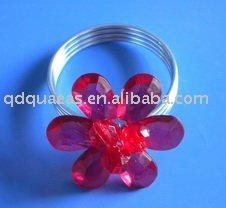napkin ring Qn100402 red acrylic beades
