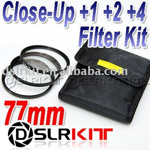 77mm 77 mm Macro Close-Up +1 +2 +4 Close Up Filter Kit