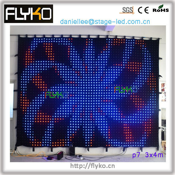 free shipping  video curtain led beautiful video