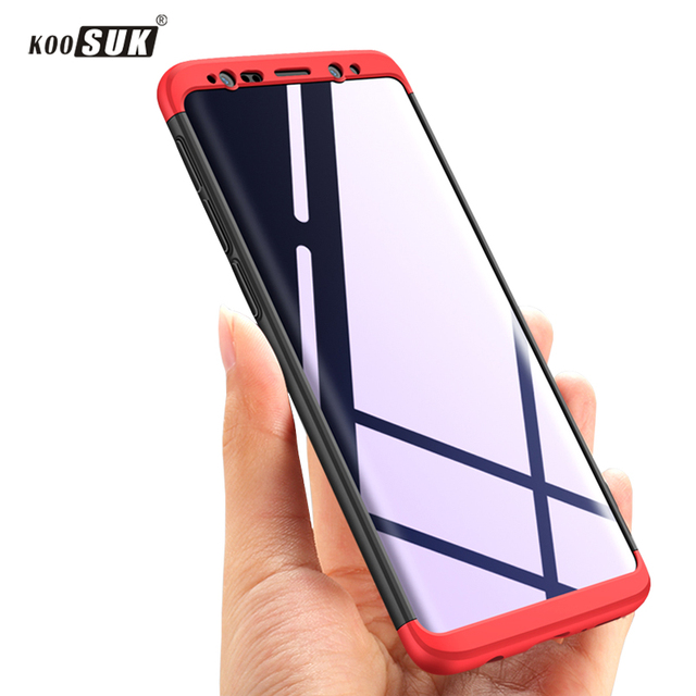 Original For Samsung Galaxy S9 Case Dual Armor KOOSUK 360 Full Protection Hard Matte For Samsung Galaxy S9 Plus Phone Cover