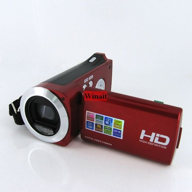 HD 8MP 720P Digital video camera with 3MP CMOS Sensor, Li-ion battery, 4 x digital zoom and 2.7 inch big screen, free shipping