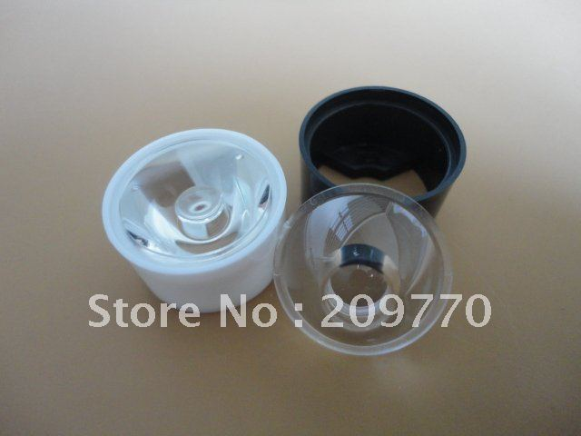 LED lens With stent 24MM Smooth surface 15 degrees Condenser lens ,1W 3W 5W LENS