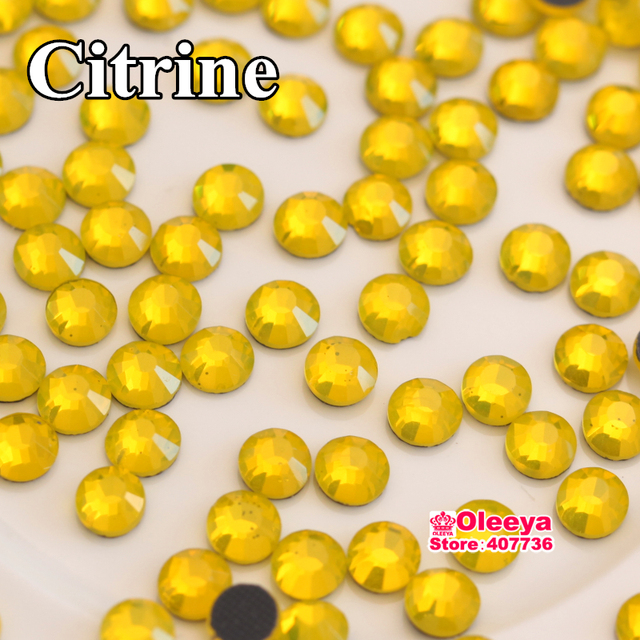 Citrine DMC Hotfix Rhinestones ss6 ss10 ss16 ss20 ss30 Flatback Iron On Strass Loose Stone For Clothes Christmas Y0159