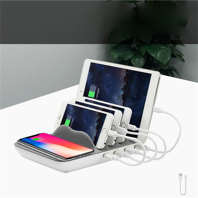 Universal USB Charging Station 2.4A Multi 4 Ports Stand Fast USB Phone Charger For Xiaomi iPad iPhone X 8 8 Plus 7 7Plus Samsung