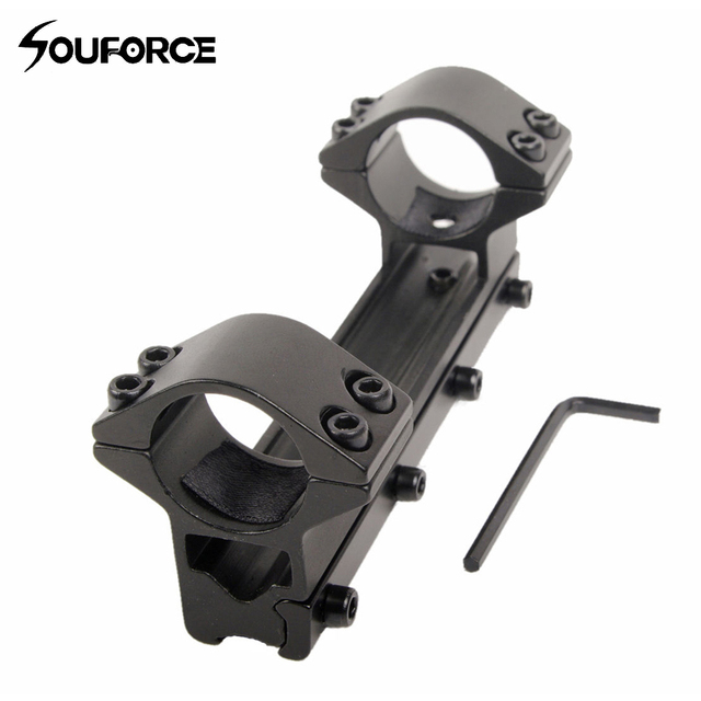 Hunting 25.4 mm Double Tube Scope Higher Mount for Dovetail 11 mm Rail For Rifle scope Free Shipping M