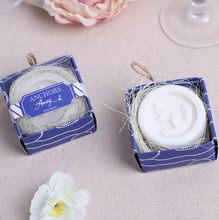 """100pcs/Lot+ Beach Themed Wedding Favors""""Anchors Away""""Anchor Design Scented Soap Bridal Shower Favor Soap For Guest+FREE SHIPPING"""