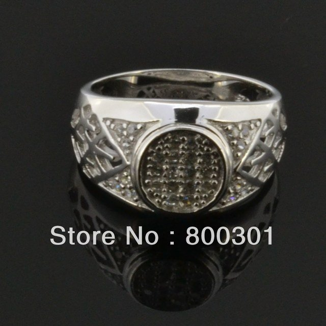 Sterling silver 925 with Platinum Plated AAA zirconite Fashion rings for men wedding CZ Diamond 100% genuine wedding engagement