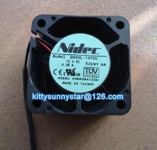 NIDEC 4028 D04XL-12T2U 12V 0.35A 2Wire Server Fan