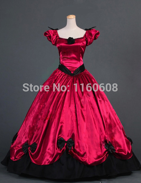 Southern Belle Victorian Princess Dress Gown Ball Gown Reenactment Stage Ball Gown