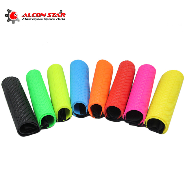 Alconstar Front Fork Protector Shock Absorber Guard Wrap Cover Skin For Motorcycle Motocross Pit Dirt Bike ATV Quad CR XR CRF