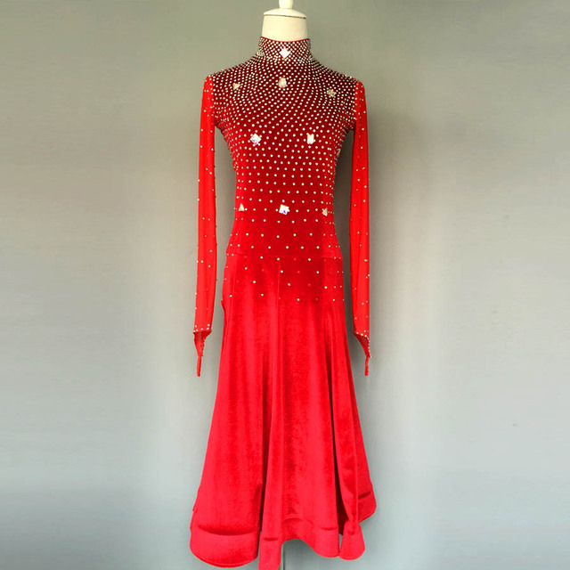 New style latin dance costume sexy spandex long sleeves latin dance dress for women latin dance competition dresses A34 S-4XL