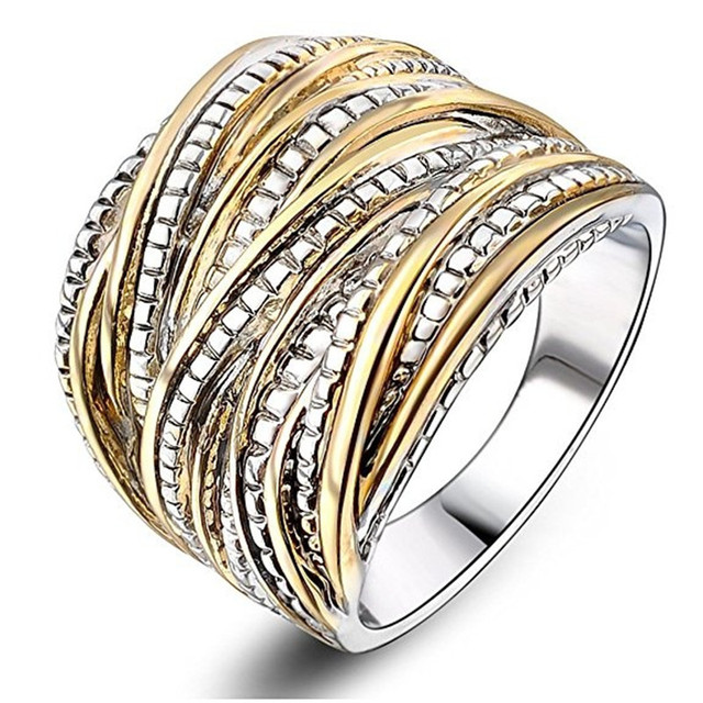 MOONROCY Silver Color Rose Gold Color Wedding CZ Rings Hyperbol Party Crystal Ring for Women Jewelry Wholesale Dropshipping