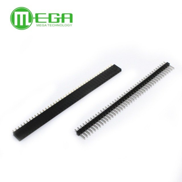 10pair 1x40 Pin 2.54mm Single Row Female + 10pcs 1x40 Male Pin Header connector