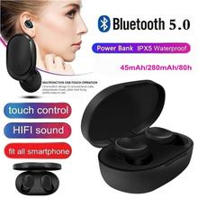 Bluetooth Headsets For Redmi Airdots Wireless Earbuds 5.0 TWS Earphones Handsfree Headphone With Mic for Xiaomi iPhone Huawei