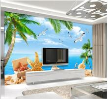 Custom Photo Wallpaper 3d Wall Murals Wallpaper Seaside Scenery 3d Sea Beach Mural Tv Background Wall Papers Home Decor Buy Cheap In An Online Store With Delivery Price Comparison Specifications Photos