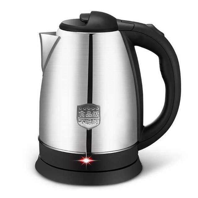 Portable Electric 2L Water Kettle Appliances Travel Heating Keep Warm Stainless Steel Boiling Pot Water Office Portable Travel