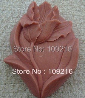wholesale!!!1pcs Tulip  (ZX190) Silicone Handmade Soap Mold Crafts DIY Mold