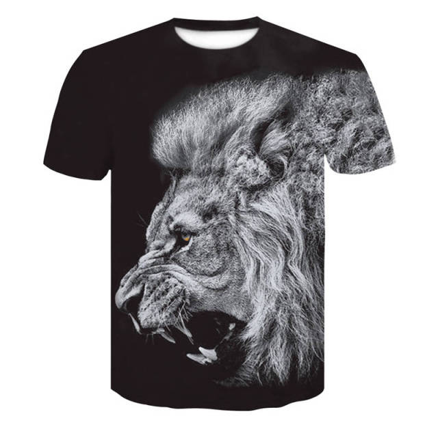 Newest Wolf 3D Print Men's T-Shirts Animal Cool Funny T Shirt Men short-sleeved Summer Tops tshirt Male Skull Fashion camise