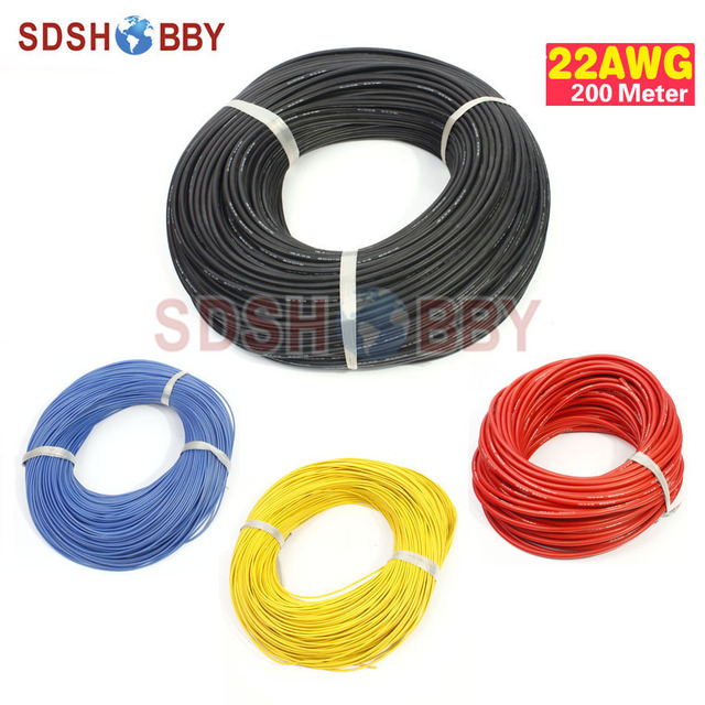 200 Meter 22AWG Silicone Wire/ Silica Gel Wire/ Silicone Cable (60/0.08, OD: 1.6)
