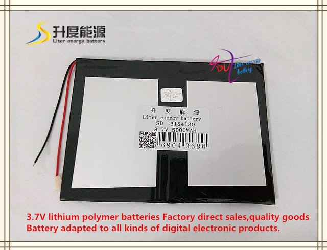 3.7V 5000mAH 3184130 polymer lithium ion / Li-ion battery for tablet pc cell