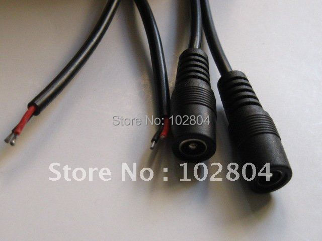 25 Pcs Per Lot DC Power Jack Female Connector 5.5x2.1mm With Cord Cable 25cm 0.25m HOT Sale High Quality