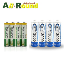 4PCS AAA 1350mAh & 4PCS AA 3000mAh 1.2V BTY Ni-MH Rechargeable Battery Cell Set