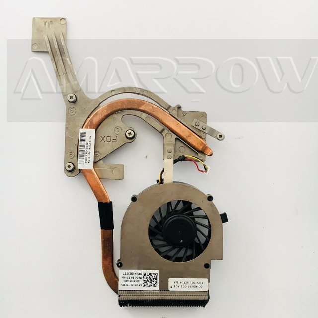 Original For DELL laptop heatsink cooling fan cpu cooler M4010 M4030 N4030 CPU heatsink Fan+brass radiator