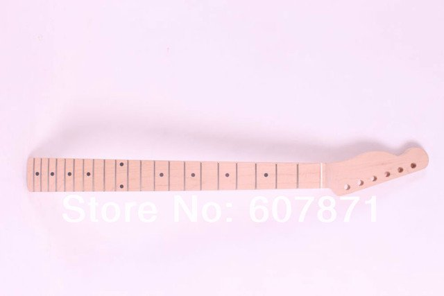 onw  unfinished electric guitar neck maple made and maple fingerboard Bolt on 21 fret