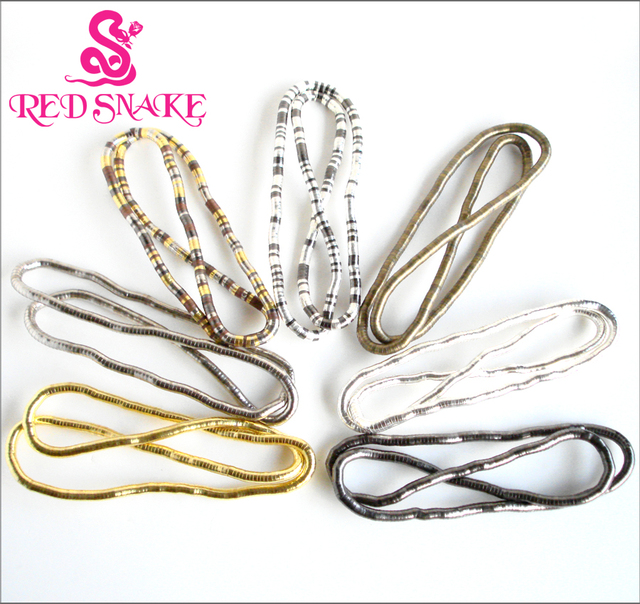 RED SNAKE 24pcs/lot 900*8mm Thick Trendy Punk Bendable Bendy High Quality Snake Necklace, Multicolor