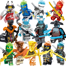1pcs Ninja Kai Cole Jay Zane Lloyd Nya Mini action Figures Building Blocks Kids Toy Gift Compatible Legoinglys Ninjagoed For Kid
