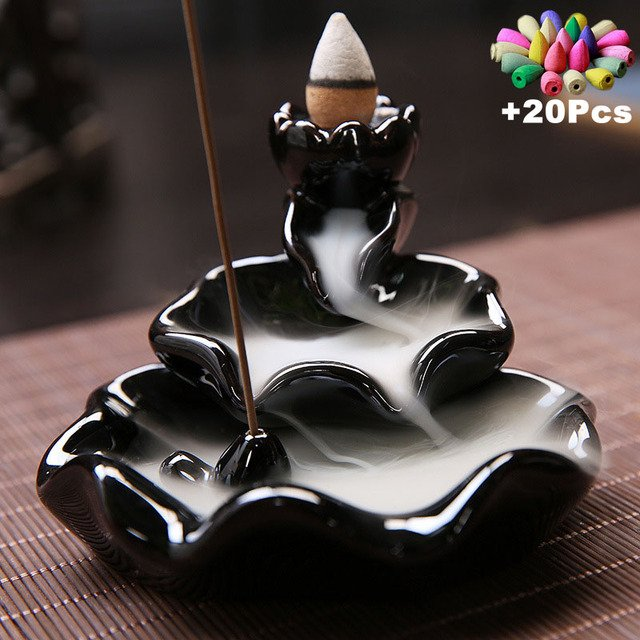 Free 20cones Creative Home Decor Backflow Stick Incense Burner Ceramic Censer Home Decoration Use In Home Teahouse
