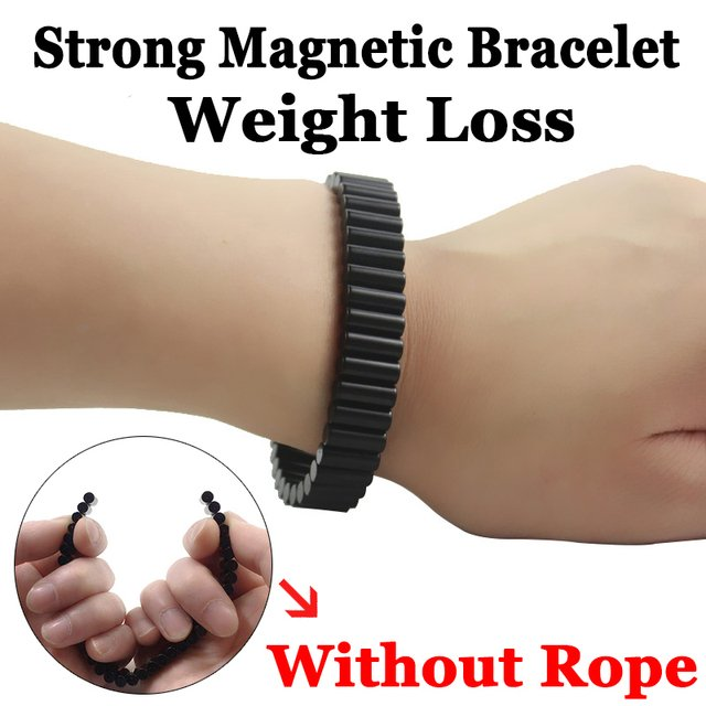 black permanent rare earth neodymium magnets strong magnetic Germanium therapy health watchband for man punk jewelry SMB1001
