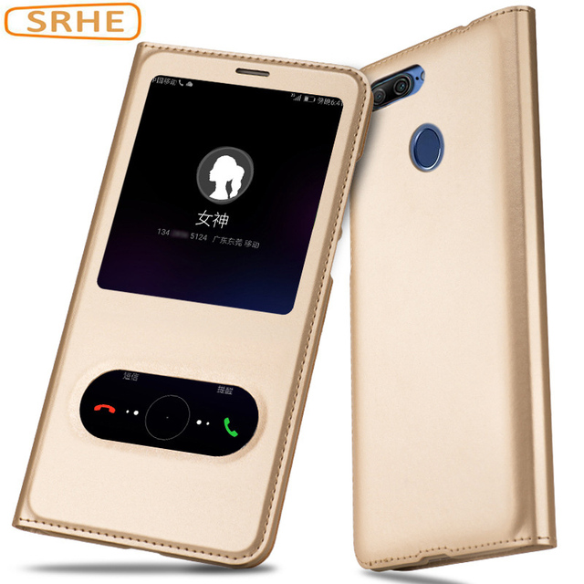 Huawei Honor 9 Lite Case Flip Luxury PU Leather Business Cover For Huawei Honor 9 Lite Honor9 Lite Open Window Phone Smart Cases