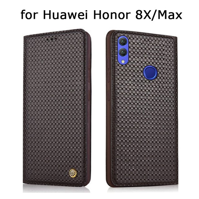 Genuine Leather Case for Huawei Honor 8X Handmade Custom Flip Phone Cases for Huawei Honor 8X Max Fundas Skin Stand Cover Skin