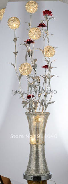F074--New Arrival Fast Delivery Aluminum Antique Bedside Lamp