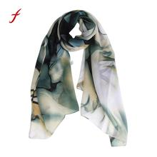 Feitong Winter Warm scarves for women Lady Long Wrap Women's Shawl Chiffon Scarf Scarves Female Fashion stole high quality cape